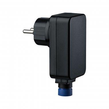 Plug&Shine napaječ IP44 21W 24V DC do zásuvky černý - PAULMANN P 98848