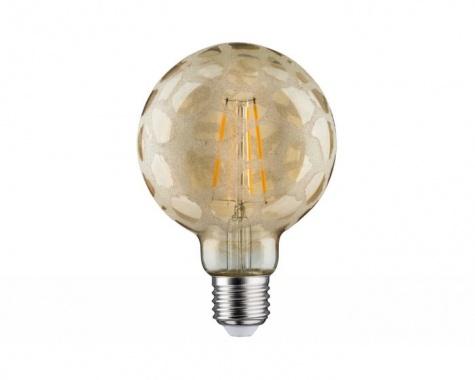 LED Retro žárovka Globe 95 6W E27 Krokoeis zlatá teplá bílá stmívatelné - PAULMANN-2