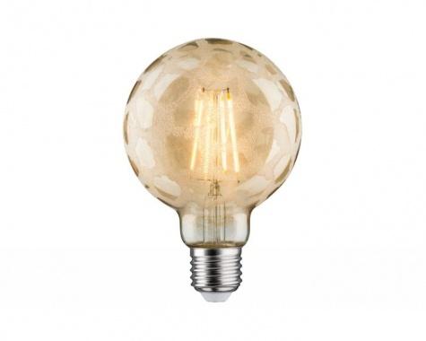 LED Retro žárovka Globe 95 6W E27 Krokoeis zlatá teplá bílá stmívatelné - PAULMANN-4