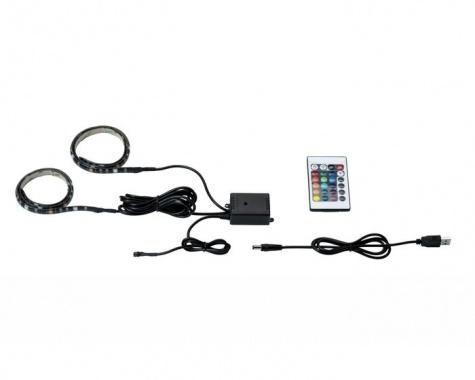 LED pásek 2,5W RGB s USB konektorem a výměnou barev 2x50cm - PAULMANN-2