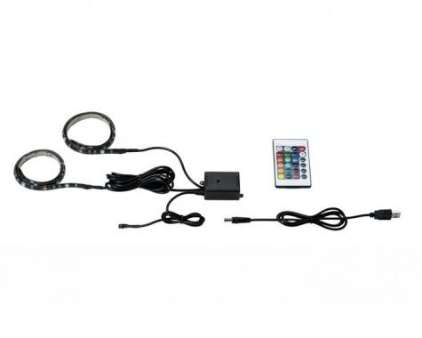 LED pásek 2,5W RGB s USB konektorem a výměnou barev 2x50cm - PAULMANN-3