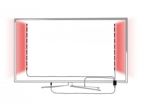 LED pásek 2,5W RGB s USB konektorem a výměnou barev 2x50cm - PAULMANN-4