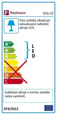 LED nábytkové přisazené svítidlo Kite trojúhelník 1 ks vč. LED modulu 1x6,2W - PAULMANN-1