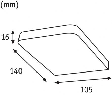 LED nábytkové přisazené svítidlo Vane hranaté 1ks vč. LED modulu 1x6,7W - PAULMANN-1