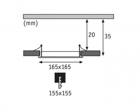 Vestavné bodové svítidlo 230V LED  P 92065-6