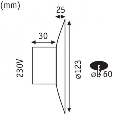 Vestavné bodové svítidlo 230V P 92927-1