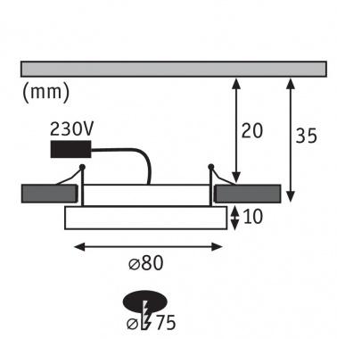 Vestavné bodové svítidlo 230V P 92948-1