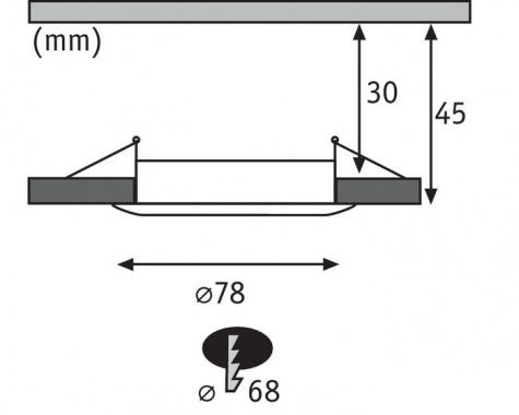 Vestavné bodové svítidlo 230V LED  P 93873-4
