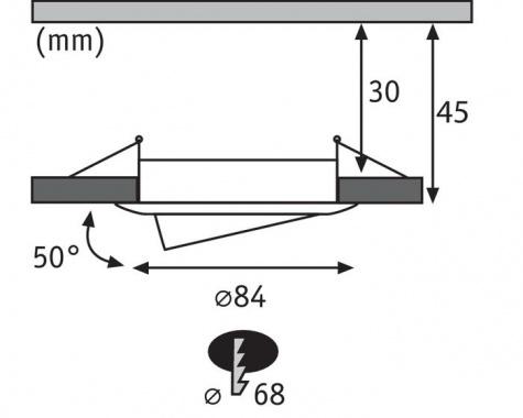 Vestavné bodové svítidlo 230V LED  P 93902-4