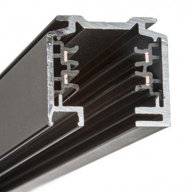 EUTRAC 3m černá 230V - tříokruhová lišta