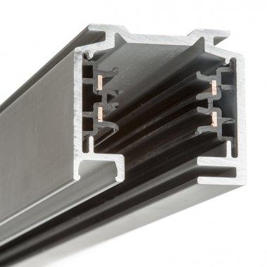 EUTRAC 3m stříbrnošedá 230V - tříokruhová lišta