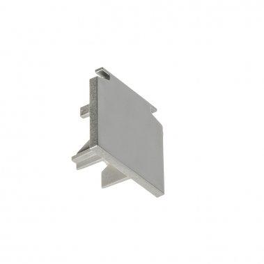EUTRAC stříbrnošedá - koncovka pro tříokruhovou lištu