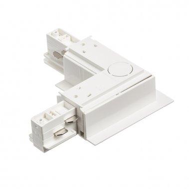 EUTRAC bílá  230V - L spoj vnější pro zápusnou lištu