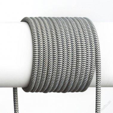FIT textilní kabel 3X0,75 1bm černá/bílá