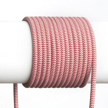 FIT textilní kabel 3X0,75 1bm červená/bílá-1