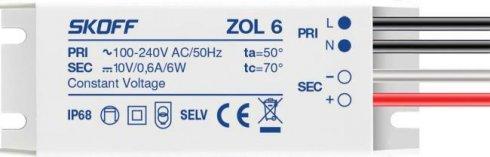 LED napaječ 10V/6W ZOL 6 SK ZL-006-C-1-1