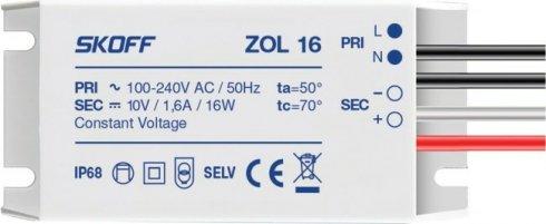 LED napaječ 10V/16W ZOL 16 SK ZL-016-C-1-1