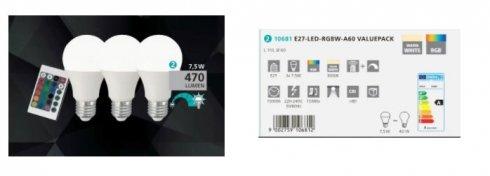 LED žárovka 3x7.5W E27 EG10681-1