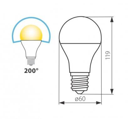 LED žárovka Tricolor Kanlux, 12W, E27, KA 22911-1