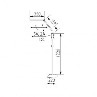 Stojací lampa LED  KA 24402-2
