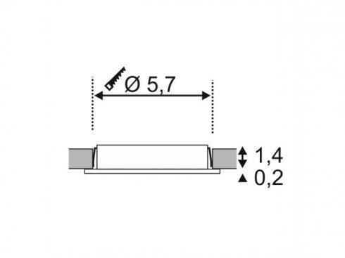 Vestavné bodové svítidlo 12V LA 112161-1