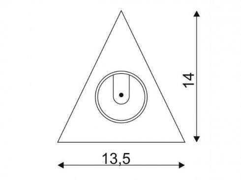 Pouzdro pro elektroniku triangl pro DL 126 LED, typ downlight, chrom LA 112172-2