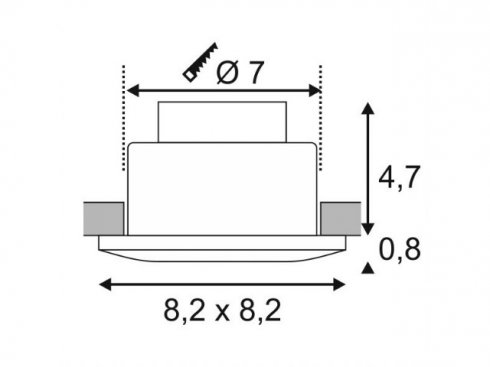 Vestavné bodové svítidlo 230V LED  LA 114471-1