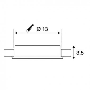 Stropní svítidlo LED  LA 117371-4