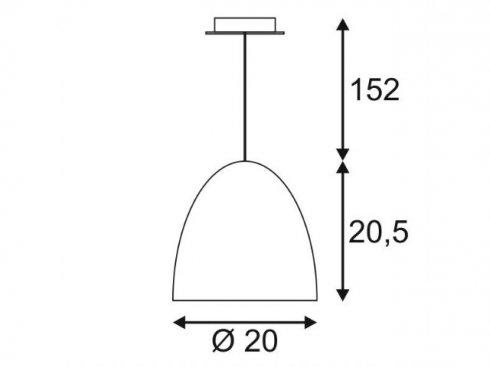 Lustr/závěsné svítidlo SLV LA 133050-1