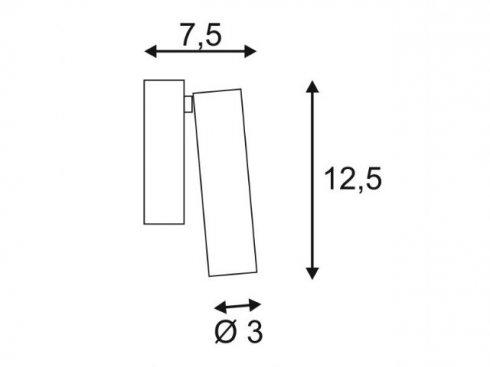 Přisazené bodové svítidlo SLV LA 152341-1