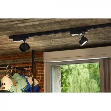 KALU TRACK zářivka na 3fázovou 230V kolejnici LED 3000K bílá/černá 24° vč.adaptéru - BIG WHITE-3