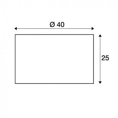 FENDA stínítko svítidla černé/bílé hliník ?/V 40/25 - BIG WHITE SLV-3