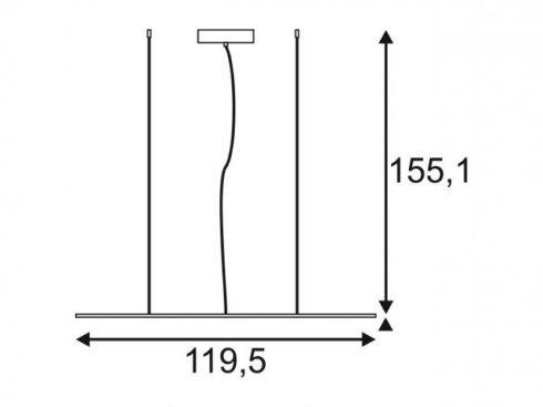 Lustr/závěsné svítidlo LED  LA 158733-1