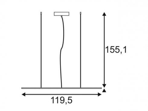 Lustr/závěsné svítidlo SLV LA 158854-2