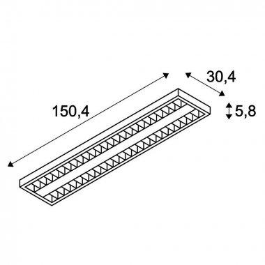 Stropní svítidlo LED  SLV LA 158951-3