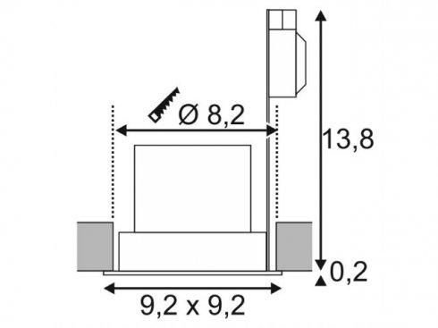 Vestavné bodové svítidlo 230V LA 161301-2