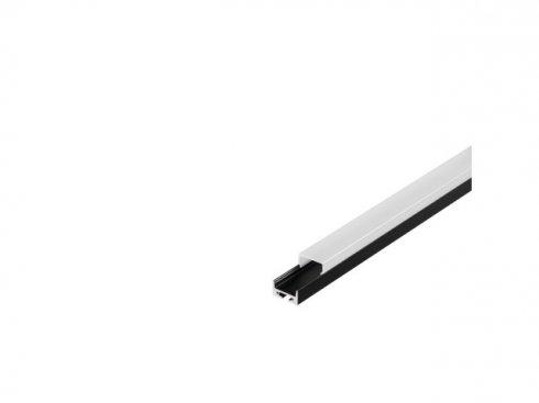 GLENOS Profi profil 2020–200, černý, 2 m, s bílým krytem LA 213440-1