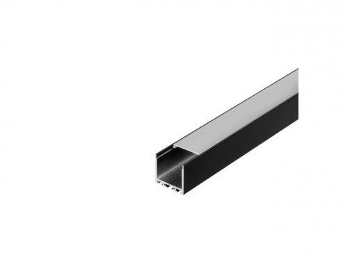 GLENOS Profi profil 3030-200, matný černý, 2 m SLV LA 213620-1