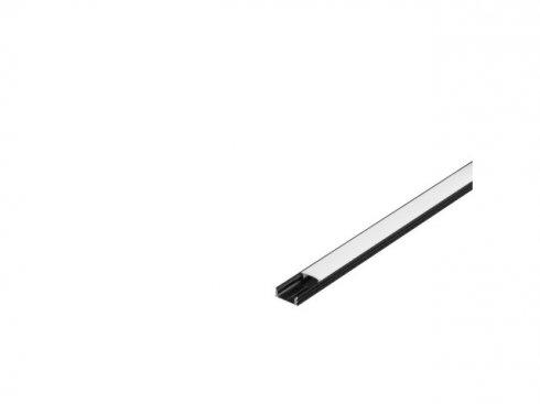 GLENOS lineární profil 1809-200, matná černá, 2 m SLV LA 213810-1