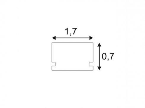 GLENOS lineární profil 1809-200, matná bílá, 2 m SLV LA 213811-2