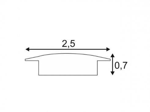 GLENOS lineární montážní profil 2508-200, eloxovaný hliník, 2 m SLV LA 213862-2