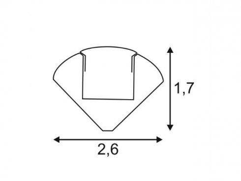 GLENOS rohový profil 2720-200, eloxovaný hliník, 2 m SLV LA 213914-2