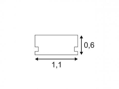 GLENOS lineární profil 1107-200, matný bílý, 2 m SLV LA 213951-1
