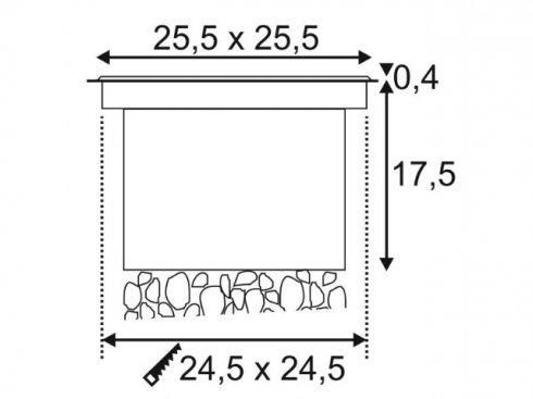 Pojezdové/zemní svítidlo LED  SLV LA 229381-1