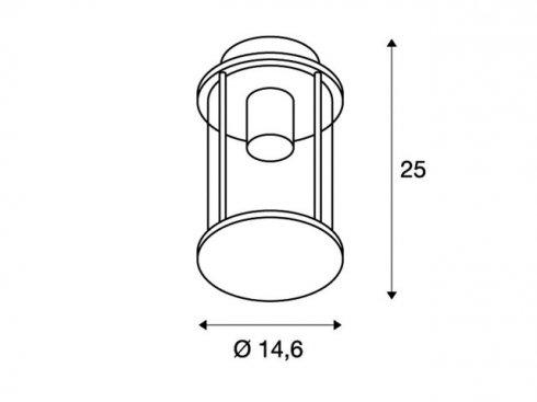 Venkovní svítidlo závěsné LA 232065-3