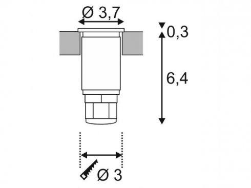 Pojezdové/zemní svítidlo LED  LA 233550-1