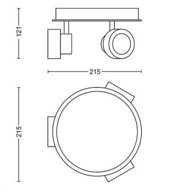Koupelnové osvětlení LED 34174/11/P0-4