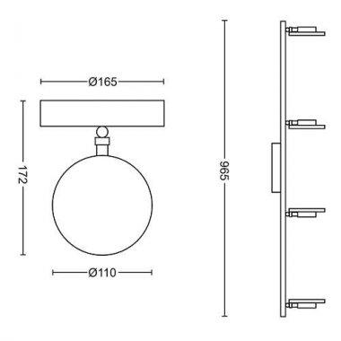 Přisazené bodové svítidlo LED 50444/11/P0-3