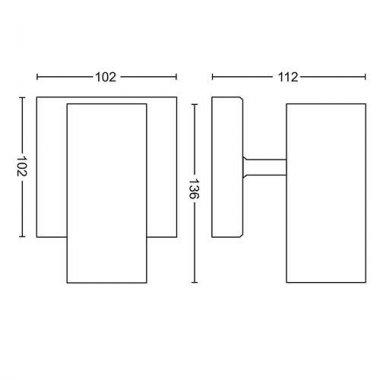 Přisazené bodové svítidlo LED 50461/31/P8-2