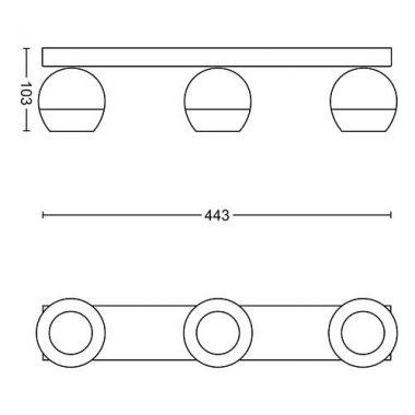 Přisazené bodové svítidlo LED 50473/30/P7-3